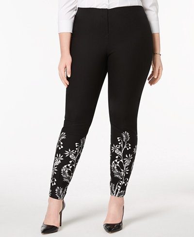 Alfani Plus Size Printed-Cuff Pants, Created for Macy's