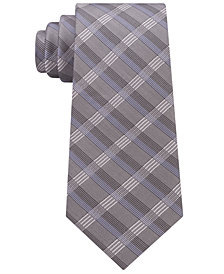 Calvin Klein Men's Crème Plaid Tie