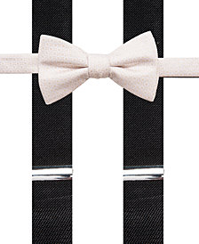 Alfani Black Bow Tie and Suspender Set, Created for Macy's