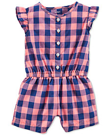 Carter's Plaid Cotton Romper, Baby Girls