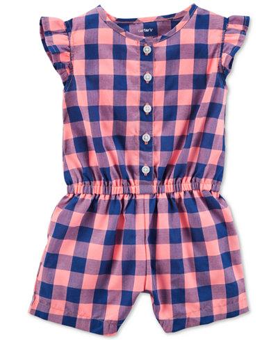 Carter's Plaid Cotton Romper, Baby Girls