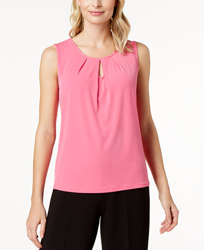 Pleated Sleeveless Blouse Kasper Clearance View High Quality Cheap Online Brand New Unisex Cheap Online FWnUN9NW