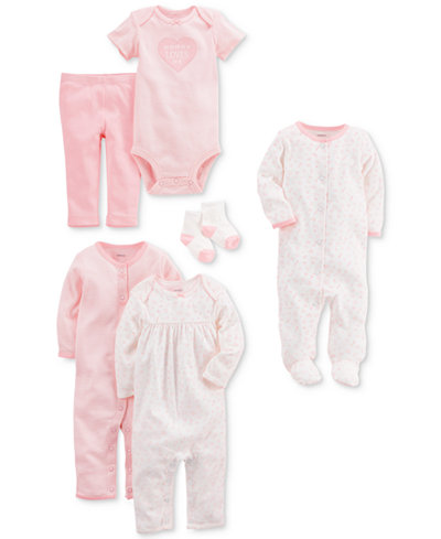 Carter's 9-Pc. Cotton Clothing & Accessories Set, Baby Girls