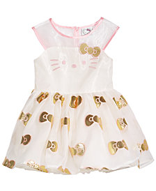 Hello Kitty Golden Bow Dress, Baby Girls