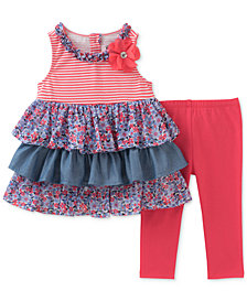 Kids Headquarters Tiered Ruffle Tunic & Leggings, Baby Girls