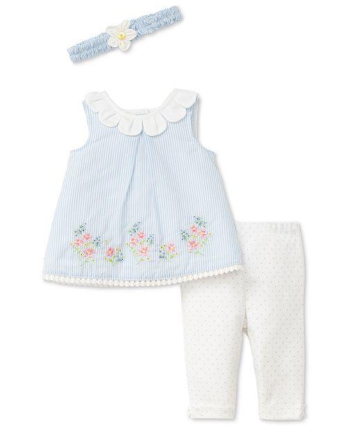 Little Me 2-Pc. Petal-Border Tunic & Leggings Set, Baby Girls