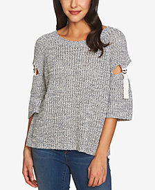 1.STATE Cutout-Sleeve Sweater
