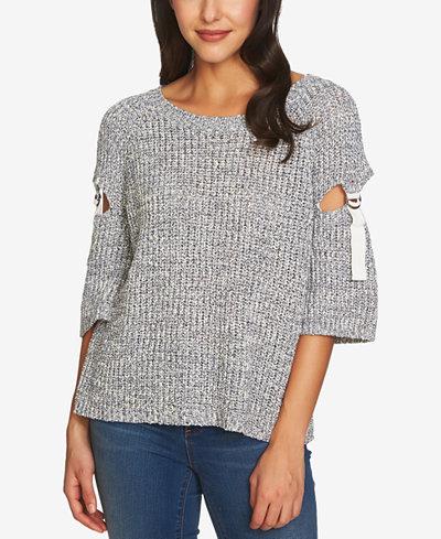 1.STATE Cutout-Sleeve Sweater