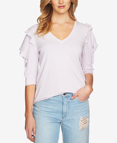 1.STATE Puff-Shoulder Top