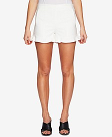 Ruffle-Hem Welt-Pocket Shorts