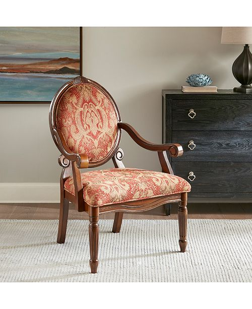 Jla Home Rosalyn Fabric Royal Burgundy Oval Back Accent