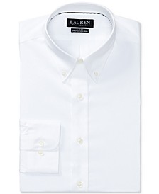 Men's Slim-Fit Non-Iron Stretch Poplin Dress Shirt