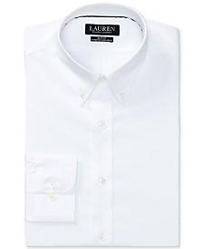 Lauren Ralph Lauren Men's Slim-Fit Non-Iron Stretch Poplin Dress Shirt