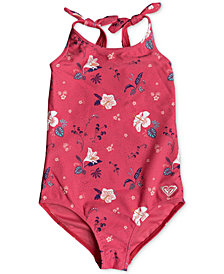 Roxy 1-Pc. Shoulder-Tie Swimsuit, Little Girls