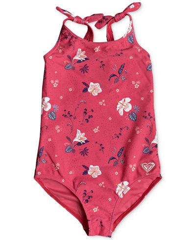Roxy 1-Pc. Shoulder-Tie Swimsuit, Toddler Girls