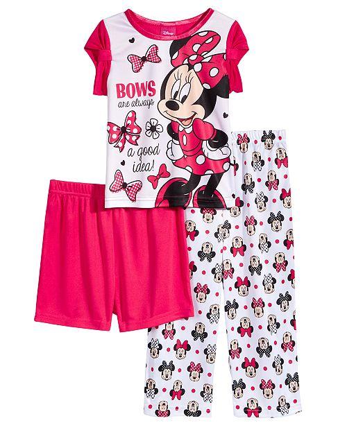 0329ef4eb6a9 Minnie Mouse Disney s® 3-Pc. Bows Pajama Set