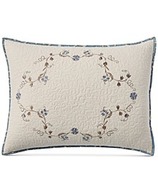 CLOSEOUT! Westminster Vines Cotton King Sham, Created for Macy's