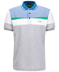 BOSS Men's Regular/Classic-Fit Colorblocked Piqué Cotton Polo