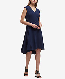 DKNY V-Neck High-Low Dress, Created for Macy's
