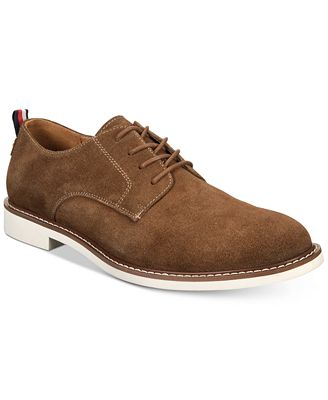 Mens Essential Suede Boot Oxfords Tommy Hilfiger