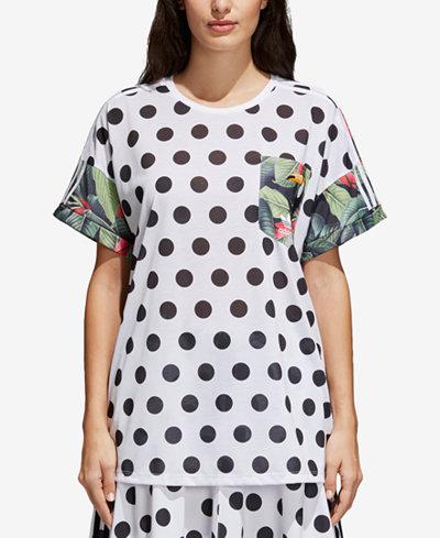 adidas Originals Mixed-Print T-Shirt