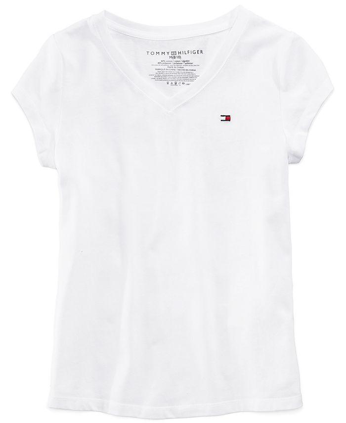 Tommy Hilfiger - Cotton V-Neck T-Shirt, Big Girls (7-16)