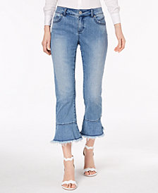 I.N.C. Curvy-Fit Flared Cropped Jeans, Created for Macy's