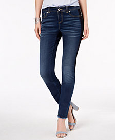 I.N.C. Curvy-Fit Frayed-Hem Skinny Jeans, Created for Macy's