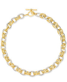 "Charter Club Two-Tone Twisted Link 18"" Necklace, Created for Macy's"