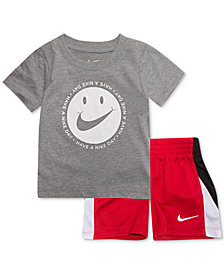 Nike 2-Pc. Face-Print T-Shirt & Shorts Set, Little Boys