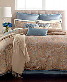 CLOSEOUT! Martha Stewart Collection Paisley Plume 14-Pc. Queen Comforter Set, Created for Macy's