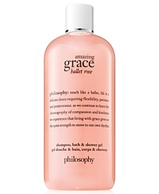 Amazing Grace Ballet Rose Shampoo, Bath & Shower Gel, 16-oz.