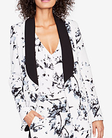 RACHEL Rachel Roy Floral-Print Sailor Blazer, Created for Macy's