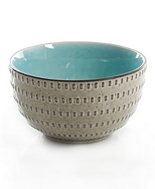 Gibson Reactive Glaze Taupe Fruit Bowl, Created for Macy's