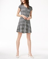 97390ec39fbcf MICHAEL Michael Kors Printed Fit   Flare Dress