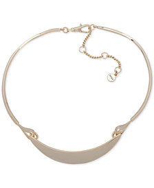 DKNY Gold-Tone Curved Bar Collar Necklace, Created for Macy's