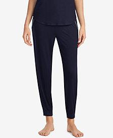 DKNY Contrast-Print Jogger Pajama Pants