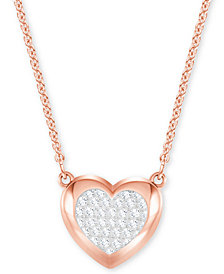 Swarovski Pavé Heart Pendant Necklace
