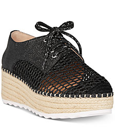 I.N.C. Women's Abrelia Espadrille Platform Sneakers, Created for Macy's