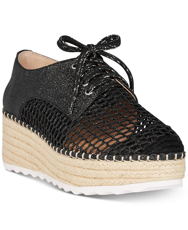 INC International Concepts I.N.C. Women's Abrelia Espadrille Platform Sneakers, Created for Macy's