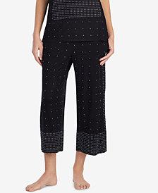 DKNY Contrast-Print Cropped Pajama Pants