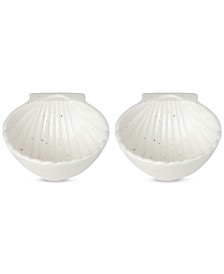 kate spade new york Cannon Street Nautical Accents Shell Bowls, Set of 2