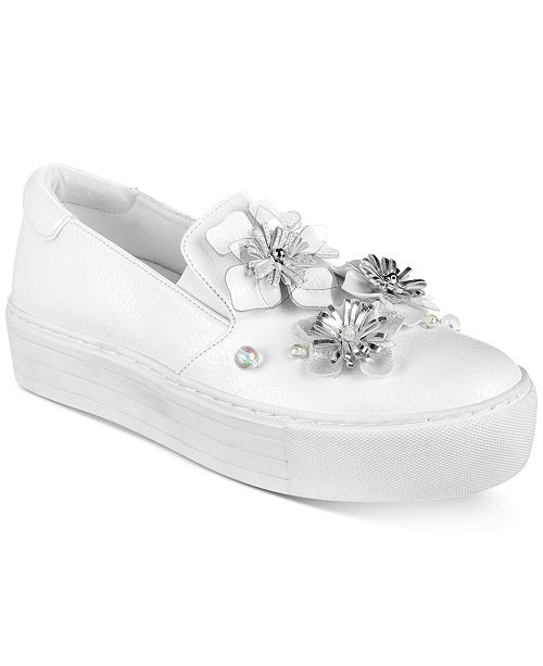 025ad11a256b Kenneth Cole Reaction Women s Cheer Floral Platform Sneakers ...