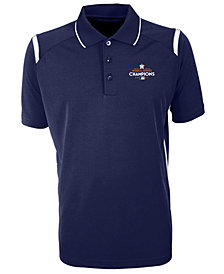 Antigua Men's Houston Astros 2017 World Series Champ Merit Polo