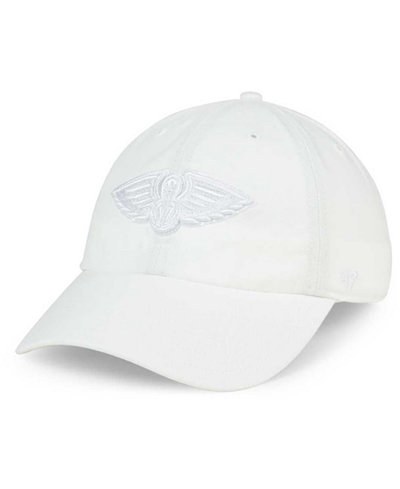 '47 Brand New Orleans Pelicans White CLEAN UP Cap