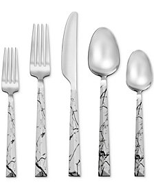 Tomodachi By Hampton Forge Dali Marble 20-Pc. Flatware Set, Service for 4