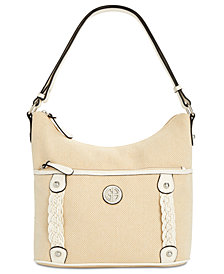Giani Bernini Braided Linen Hobo, Created for Macy's