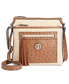 Giani Bernini Linen Crossbody, Created for Macy's