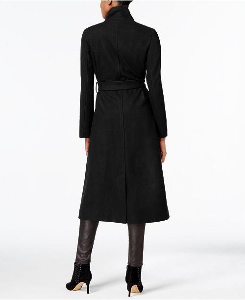 kenneth cole asymmetrical belted maxi wool coat coats women macy s