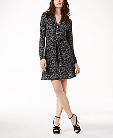 MICHAEL Michael Kors Printed Shirtdress in Regular & Petite Sizes